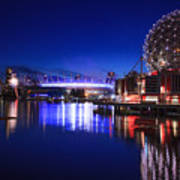 Science World And Fireworks Poster