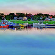 Scituate Harbor At Sunset Poster