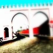 Scootering Through A Medina Gate  Poster