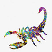 Scorpion-colorful Poster