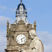 Scott Statue And Balmoral Clock Tower Poster