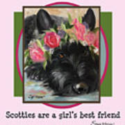 Scotties Are A Girl's Best Friend Poster