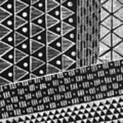 Scratchboard Kapa Pattern 1 Poster