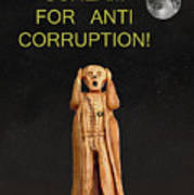 Scream For Anti Corruption Poster