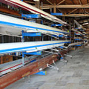 Sculling Shells On Racks Poster
