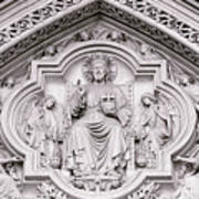 Sculpture Above North Entrance Of Westminster Abbey London Poster
