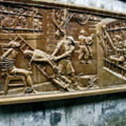 Sculpture Torture At Hoa Lo Prison Hanoi Poster