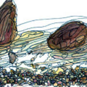 Sea And Rocks Landscape Poster