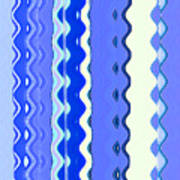 Sea Blue Wave Tapestry Poster