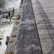 Sea Cliff Seawall Boardwalk Poster