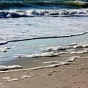 Sea Foam At The Shore Poster