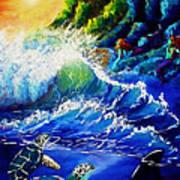Sea Life Fantasy Poster