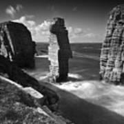 Sea Stacks At Castle Sinclair Girnigoe Poster