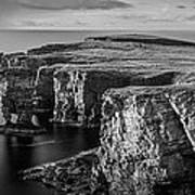 Sea Stacks, Yesnaby, Orkney, Scotland Poster