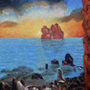 Sea Sunset Poster