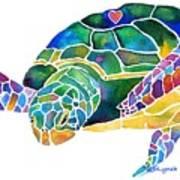 Sea Turtle Celebration 4 Prints Only Poster
