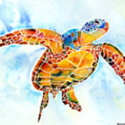 Sea Turtle Gentle Giant Poster