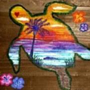 Sea Turtle Love Poster