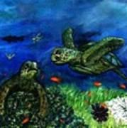 Sea Turtle Rendezvous Poster