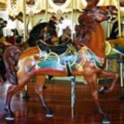 Seabreeze Carousel Horse Poster