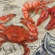 Seafood Special Edition Poster by JoAnn Wheeler