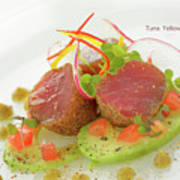 Seafood Tuna Yellow Fin Maldives Poster
