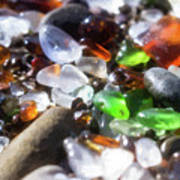Seaglass Background Poster