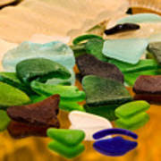 Seaglass Reflections Poster