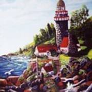 Seagull Cove And Lighthouse Poster