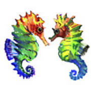 Seahorse Love Poster
