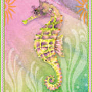 Seahorse Violet Poster