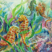 Seahorses Three Poster
