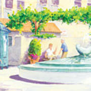 Seal Fountain Poster