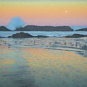 Seal Rock Moonset Poster