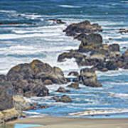 Seal Rock Seascape Poster