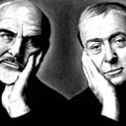 Sean Connery And Michael Caine Poster