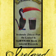 Seans Bar Guinness Pub Sign Athlone Ireland Poster