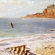 Seascape At Sainte Adresse  Poster