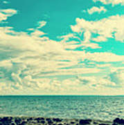 Seascape Cloudscape Instagramlike Poster