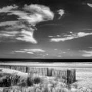 Seascape In Black And White Poster