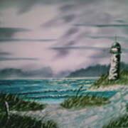 Seascape Lighthouse Poster