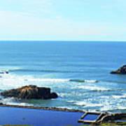 Seascape San Francisco Sutro Bath Pacific Ocean Shore Poster