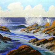 Seascape Study 2 Poster