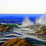 Seascape Study 4 Poster