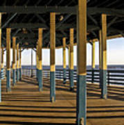 Seascape Walk On The Pier Poster