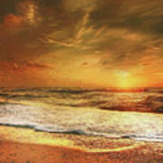 Seashore Sunset Poster