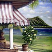 Seaside Hotel Poster by Sandra Blazel - Printscapes