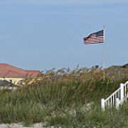 Seaside Patriotism Poster