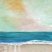 Seaside Sunset- Expressionist Landscape Poster