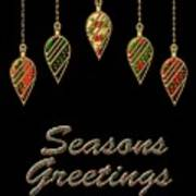 Seasons Greetings Merry Christmas Poster